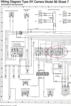 Wiring diagram for '87 Oil Temp  Pressure gauge