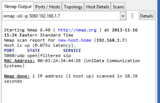 Need open UDP 5060 on the server 130.81.185.80 for VOIP ...