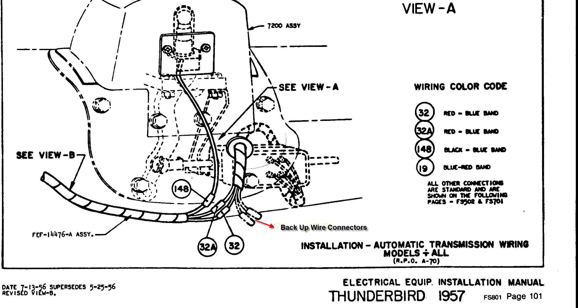 Wiring Diagram For 57 Thunderbird Wiring Diagram Section