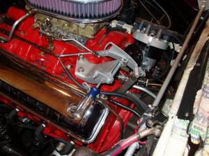 What carb linkage is required for a fordomatic tranny?