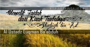 Pelajaran dari Kisah Taubatnya Shabigh bin 'Asl