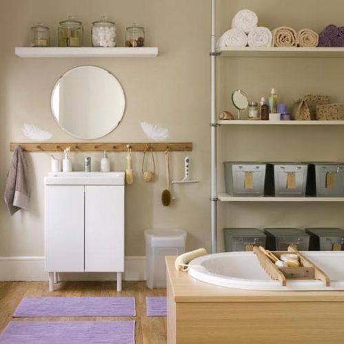 bathroom organized