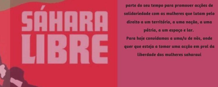 Nós marchamos em solidariedade com as mulheres saharaui