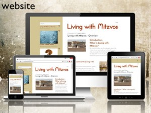 Living with Mitzvos - one of the wordpress websites by Forward Designs