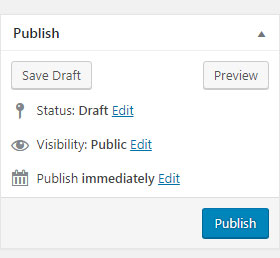 publish-button of wordpress post