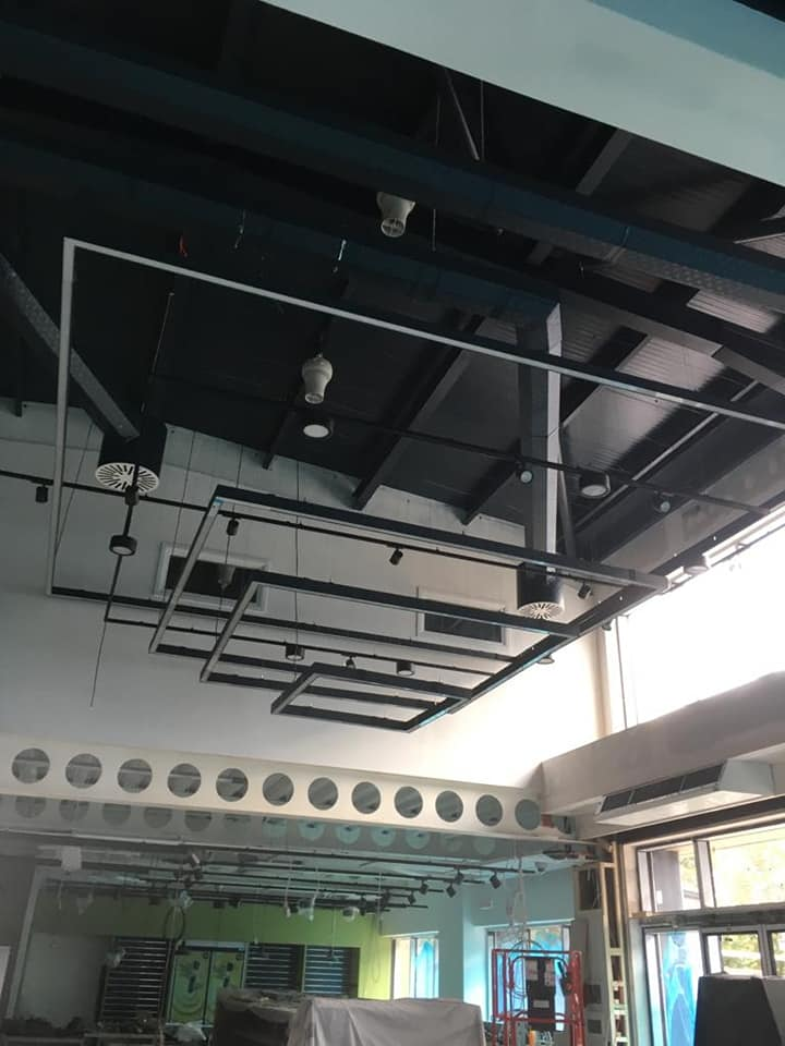 Our commercial electrician work