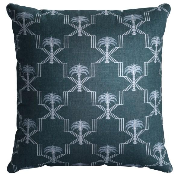 5. Scatter cushion in Barneby Gates Palm Trellis linen, £60