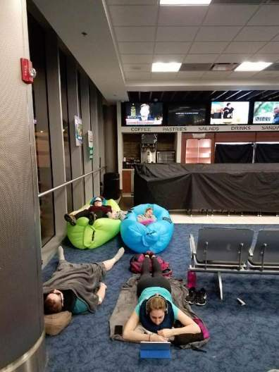 Sleeping in the arport Ambers 2
