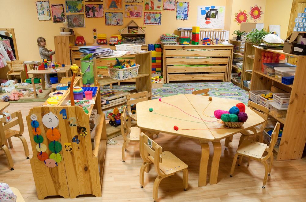salon de preescolar decorado