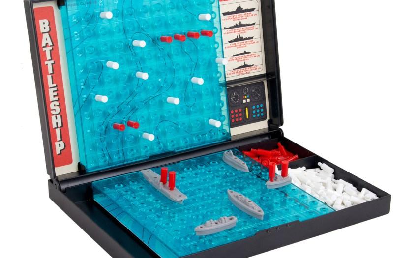 Un tablero de juego Battleship.