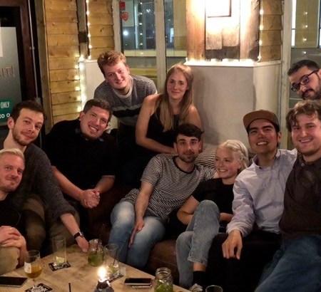 PhD students in an Edinburgh pub