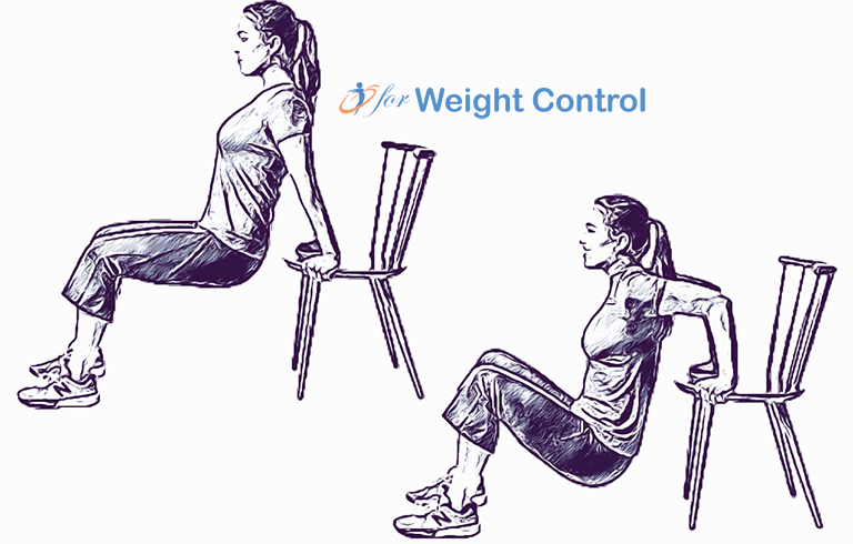 forweightcontrol triceps dip - For Weight Control