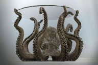 Bronze octopus table by Alex C Friend