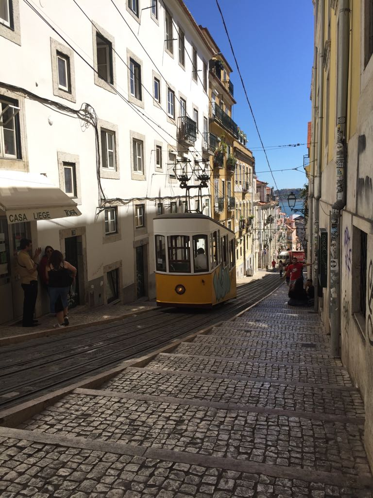 Portugal Wine Travel Guide. Streets of Lisbon. Tram