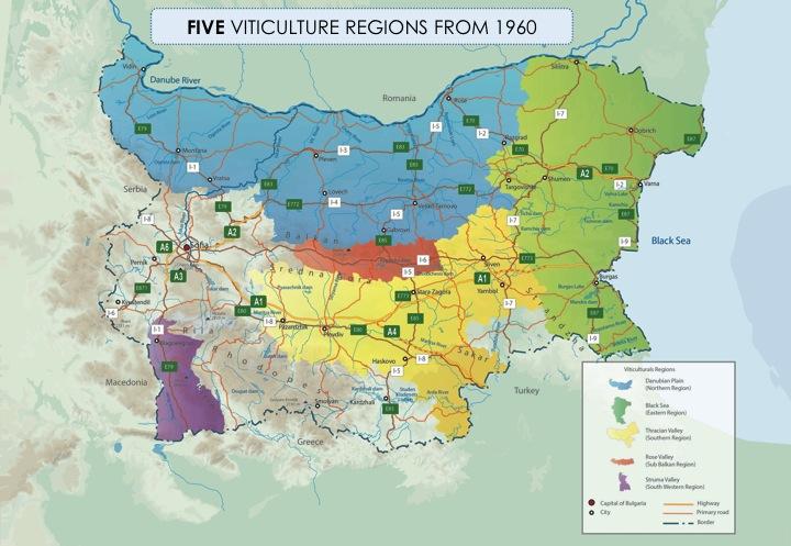 Five Wine Regions of Bulgaria. Photo courtesy of Marin Atanasov