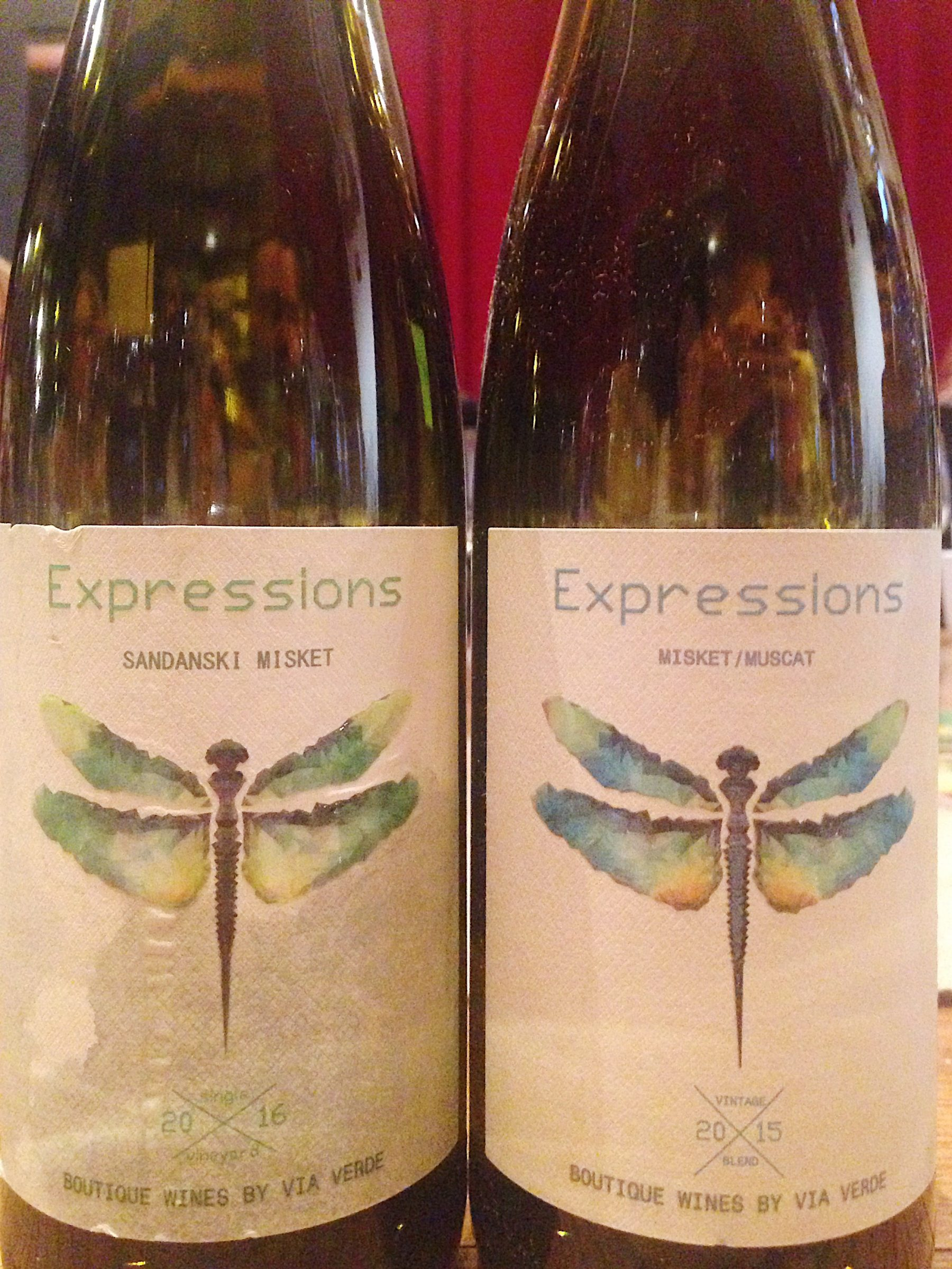 2015 Misket and Muscat, Expressions, Via Verde; 2016 Sandanski misket, Expressions, Via Verde