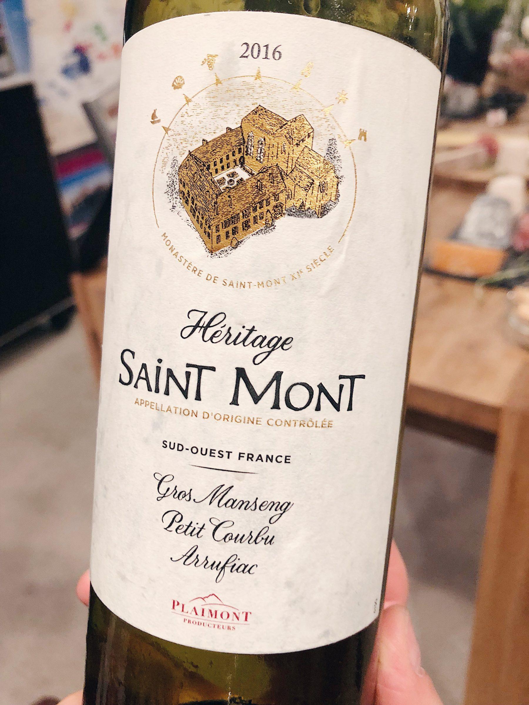 2016 Héritage Blanc Saint-Mont AOP