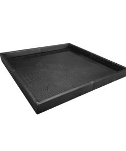 Dienblad Boston zwart vierkant | 80 x 80 cm