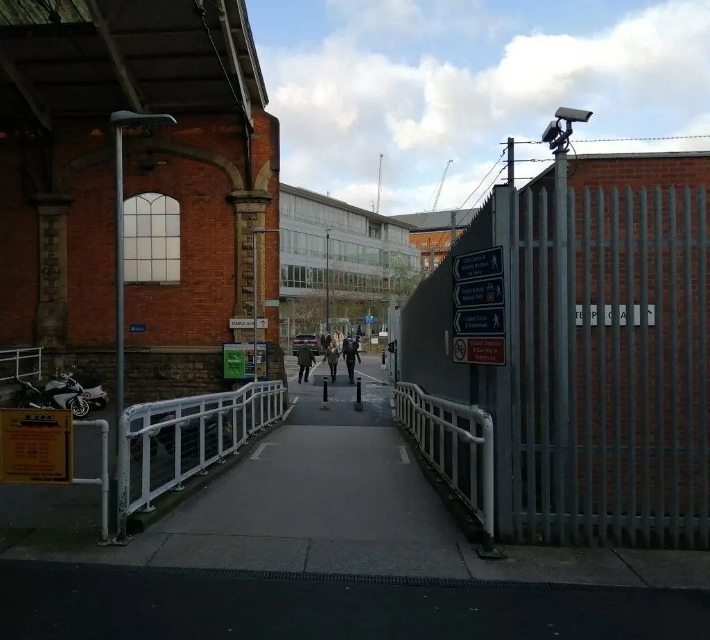 Path leading from northern entrance, Bristol Temple Meads Station