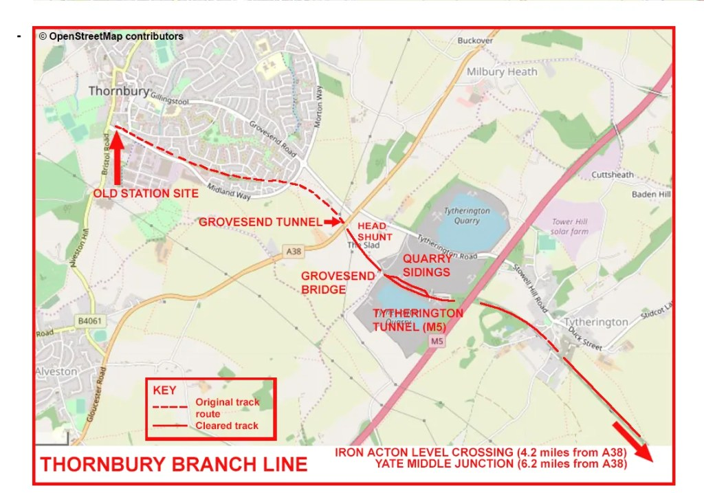 Thornbury Branch Line – Tytherington to Thornbury