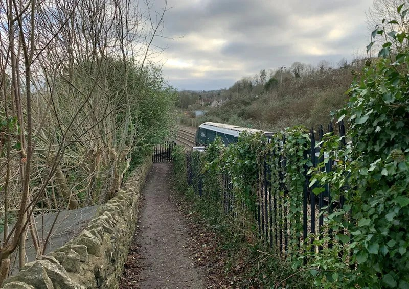 Train passes site of Saltford Station