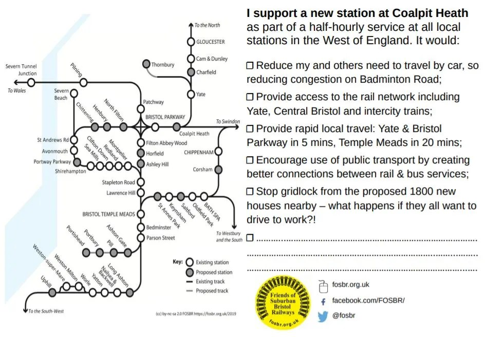 I support a new station at Coalpit Heath