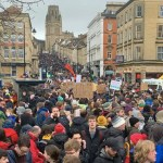 Greta Thunberg in Bristol: Crowds in College Green and Park Street