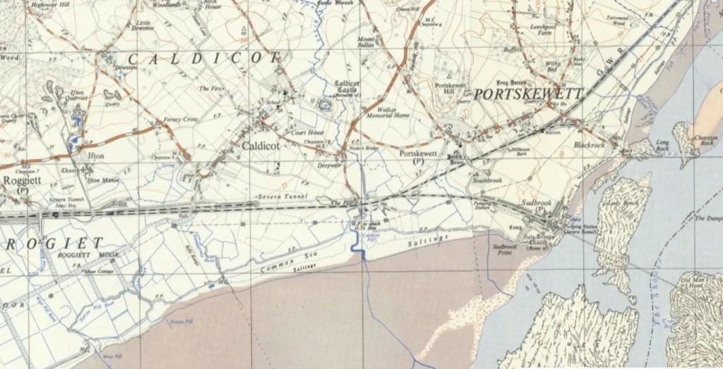 OS 1:25,000 1937-1961 Caldicot