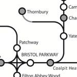 schematic rail map showing thornbury branch line