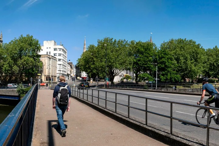 Bristol Bridge, which will be closed to private cars from 2nd August 2020
