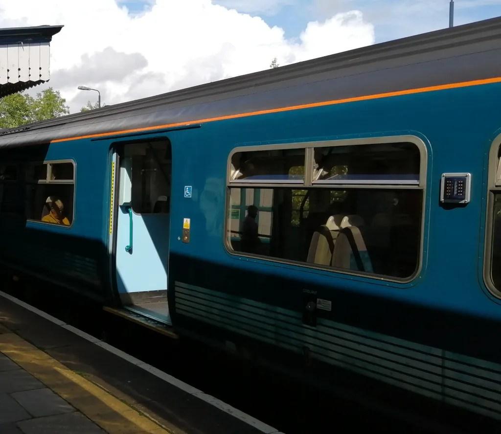 Train with door open