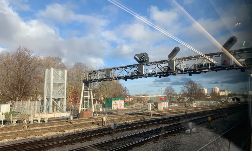 New signal boom at Bristol East Junction, December 2020