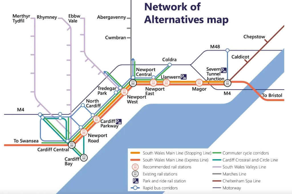 Proposed new stations in South East Wales