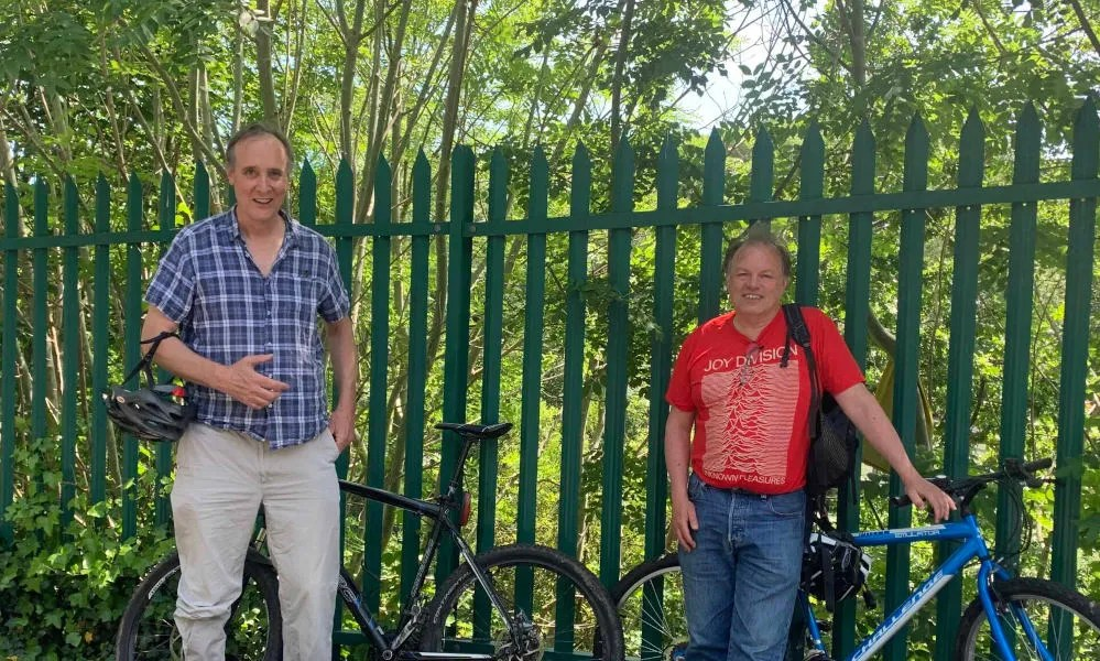 FoSBR's Tim Weekes and Cllr Tim Rippington at St Anne's Park station site
