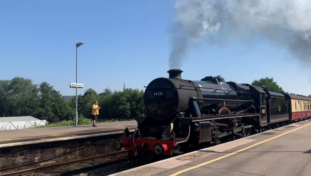 A steam train happened to be passing through Bedminster - 23rd June 2021