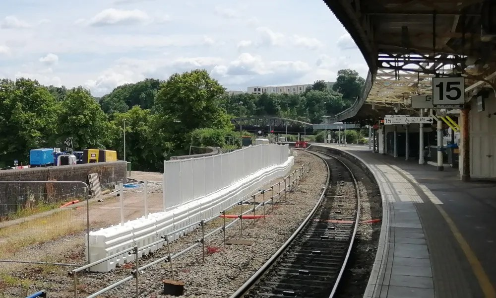 Preliminary work on new eastern entrance, Bristol Temple Meads