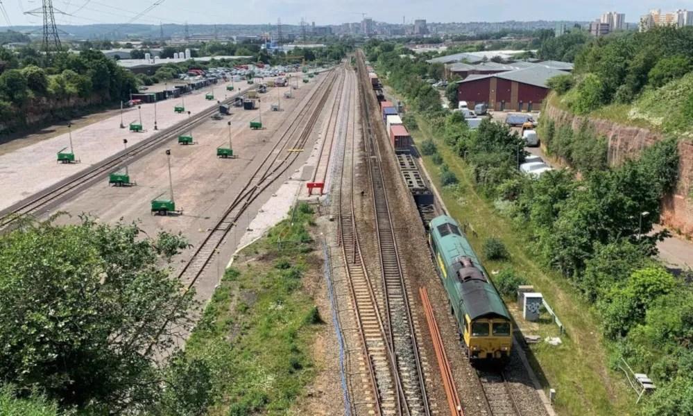 Bristol East Depot, looking west from Langton Court Road bridge 14th June 2021