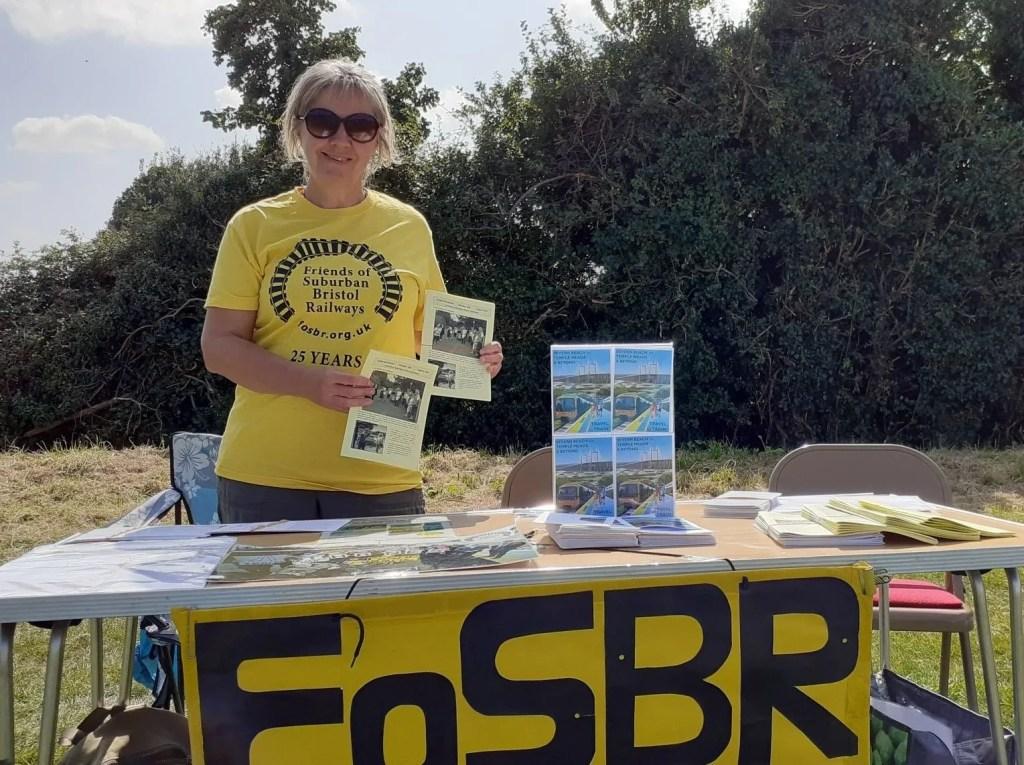 Carol demonstrates the FoSBR newsletter