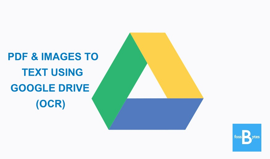 Use Google Drive to convert Images to Text (OCR)