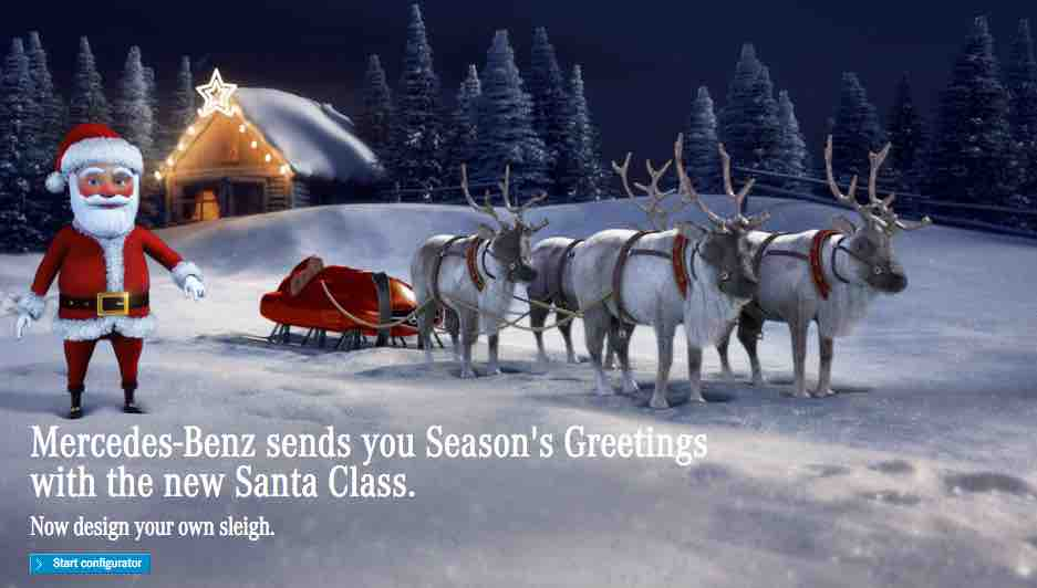 How To Send A Mercedes Santa Christmas E Card To Your