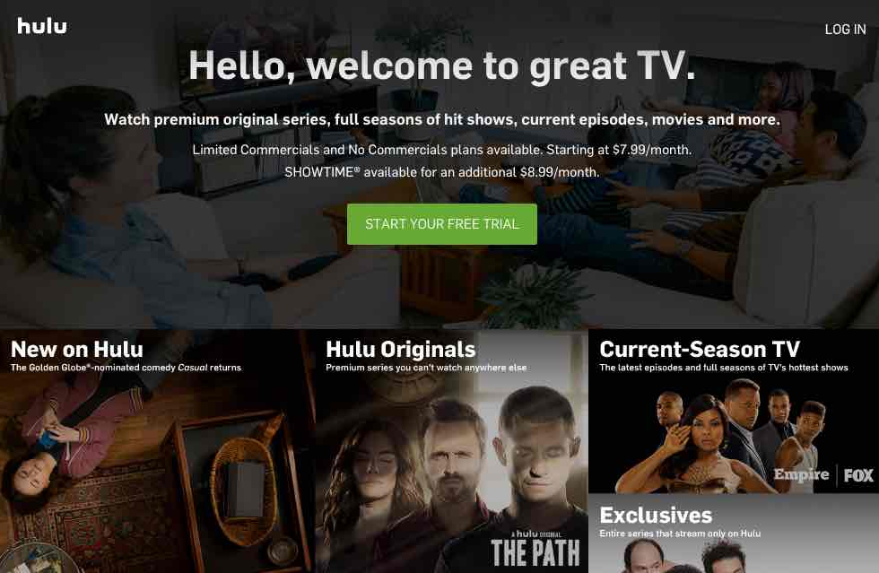 free feature films hulu trial