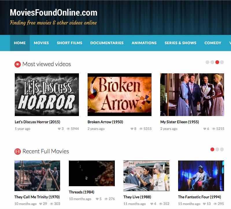movies found online