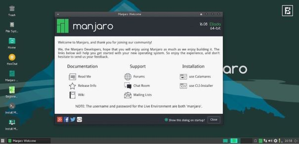 manjaro linux 16.08 xfce screenshot 9