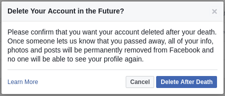 Delete Facebook Account after Death 2