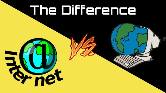 Difference Internet and web