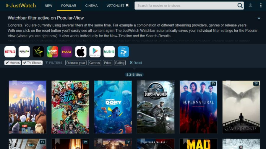 JustWatch: A Search Engine To Find Movies And Shows On