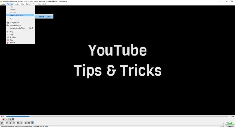 Bookmarks1-VLC Tricks