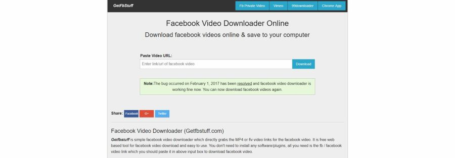GetFBStuff Download Facebook Videos