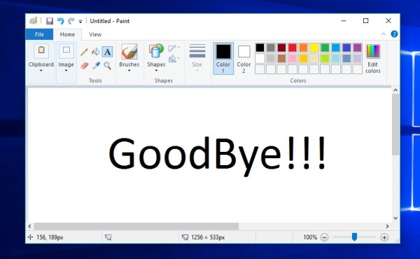 MS Paint Is Soon To Be Dead, Microsoft Is Killing The Dino