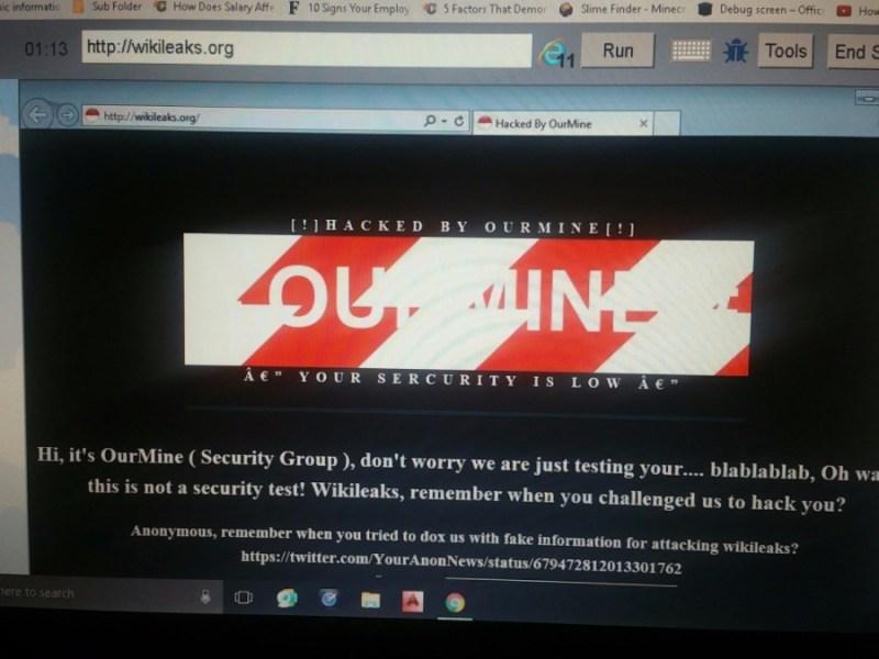 OurMine Wikileaks Hack
